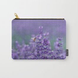 Lavender with bee in the background Carry-All Pouch