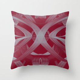 Excellence Red & White dpa150607.b2 Throw Pillow