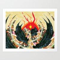 dragon Art Prints featuring  Dragon  by Shane R. Murphy