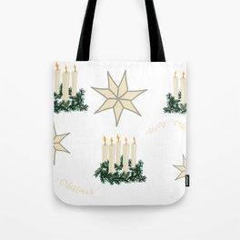 Swedish Christmas Candles Tote Bag
