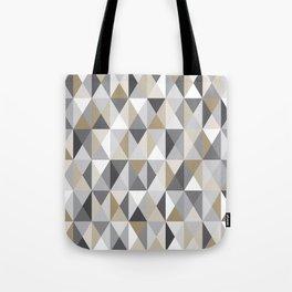 Stone Mid Century Modern Triangle Print Tote Bag