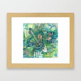 Emerald Wisdom Framed Art Print