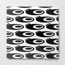 Wide Eye: On white Metal Print
