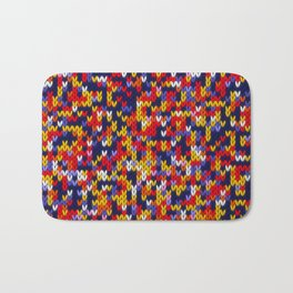 Knitted multicolor pattern 1 Bath Mat