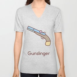 Cute Dungeons and Dragons Gunslinger class Unisex V-Neck