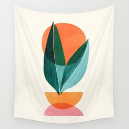 Nature Stack II / Abstract Shapes Illustration Wall Tapestry