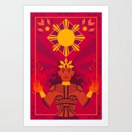 Apolaki: The Philippine Sun God Art Print