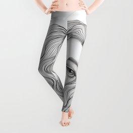 JennyMannoArt GRAPHITE DRAWING/GRACE Leggings