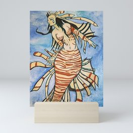 Lionfish Mermaid Mini Art Print