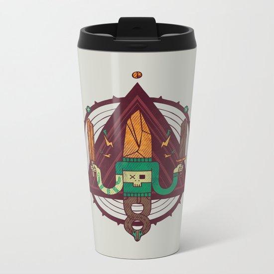 He, with the peculiar voice Metal Travel Mug