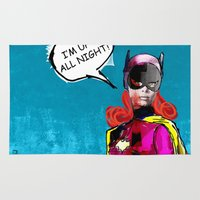 batgirl Area & Throw Rugs featuring Batgirl by Ed Pires
