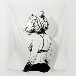 Bloody Tigress Wall Tapestry