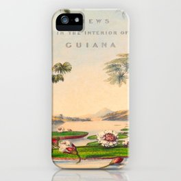 Historical Vintage Hand Drawn Illustration of Guyana South America Natural Scenes iPhone Case