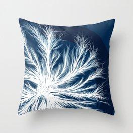 Mycelium in a petri dish Throw Pillow