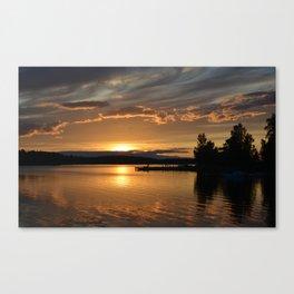 Swedish Sunset Canvas Print