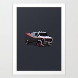 The A Team van illustration Art Print