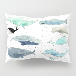 Blue whales Pillow Sham