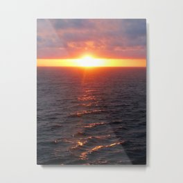 Sunset on Ocean Metal Print