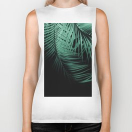 Palm Leaves Green Vibes #3 #tropical #decor #art #society6 Biker Tank