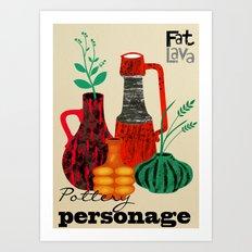 Pottery Personage Art Print