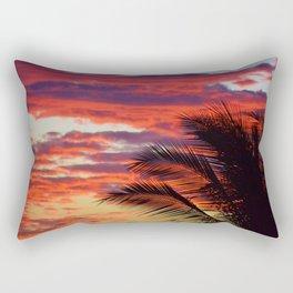 pomegranate sunset Rectangular Pillow