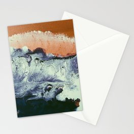 TIDAL SWELL   Acrylic abstract art by Natalie Burnett Art Stationery Cards