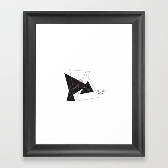 Return Home Framed Art Print