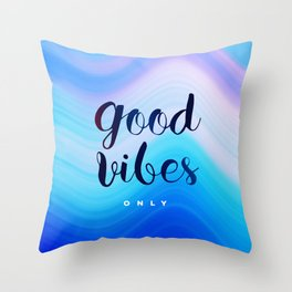 Good Vibes #homedecor #cool #positive Throw Pillow