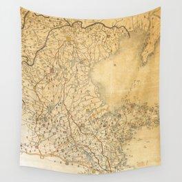Map of Zhili and Shandong, China (c1855-1870) Wall Tapestry