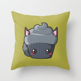 Spooky Cupcake - Werewolf Throw Pillow