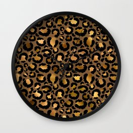 Leopard Metal Glamour Skin Wall Clock