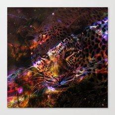 Galaxy Leopard Canvas Print
