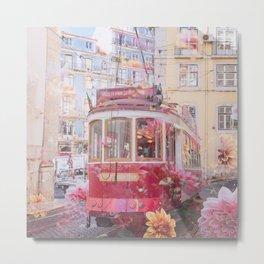 Floral Lisbon Metal Print