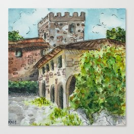 Castle Vineyard Canvas Print