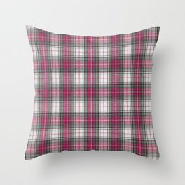 brooklyn red & white - holiday and everyday classic red white plaid check tartan Throw Pillow