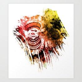 traditional beauty brush1 Art Print