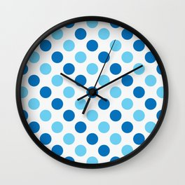 Blue polka dots pattern Wall Clock