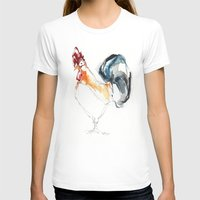 cock T-shirts featuring Cock by CALZADA by Katrin Kadelke