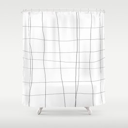 minimalist grid Shower Curtain