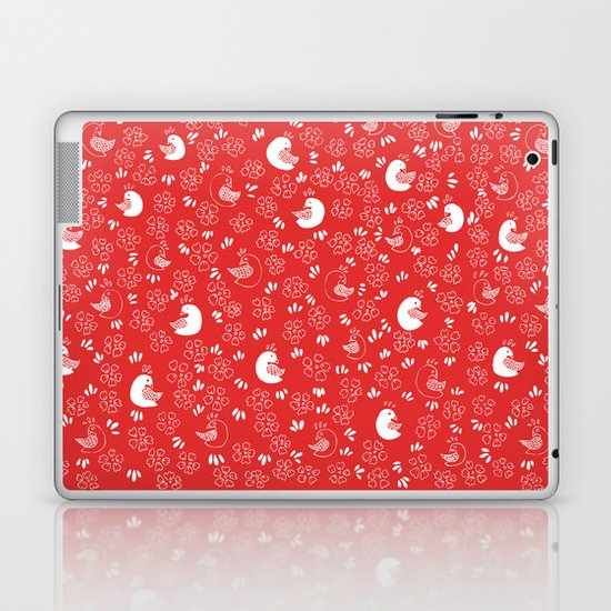 Red Bird Pattern Laptop & iPad Skin