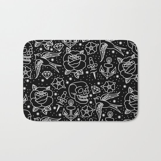 Black flash Bath Mat