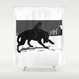 Svart-Alf Shower Curtain