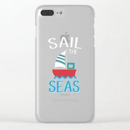 Sailing Boat Sailbook Sailing Sailor Clear iPhone Case