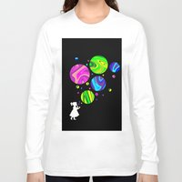 bubbles Long Sleeve T-shirts featuring Bubbles by Finlay McNevin