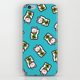 Lucky Cat Pattern iPhone Skin