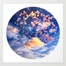sparkle clouds Art Print