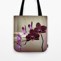 toilet Tote Bags featuring Oh De Toilet-te  by oneofacard