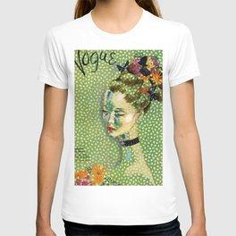 19315 Vintage Art Deco Flapper Jazz Age Young Woman Magazine Cover by Eduardo Garcia Benito T-shirt