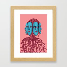 Four Faces Framed Art Print
