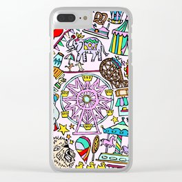 Carnival In Color Clear iPhone Case